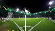 MOENCHENGLADBACH, GERMANY - NOVEMBER 07: General view inside the stadium prior to the UEFA Europa League group J match between Borussia Moenchengladbach and AS Roma at Borussia-Park on November 07, 2019 in Moenchengladbach, Germany. (Photo by Lars Baron/Bongarts/Getty Images)