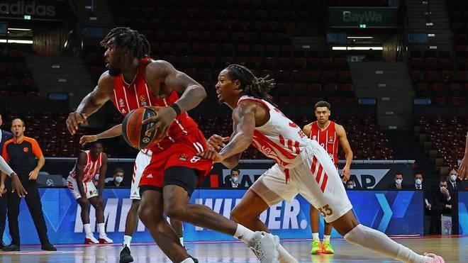 Jalen Reynolds von Bayern München war einer der besten Scorer beim EuroLeague-Sieg gegen Roter Stern Belgrad,