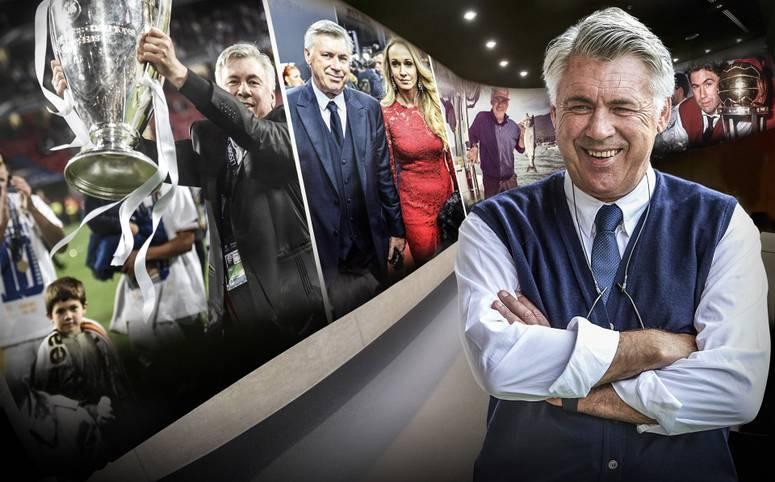 Carlo Ancelotti wird 60. Spielerkarriere, Titelsammlung, die Frau an seiner Seite: SPORT1 zeigt das bewegte Leben des früheren Bayern-Coachs in Bildern - und erklärt auch, warum er einst eine Blutgrätsche von Terence Hill abbekam