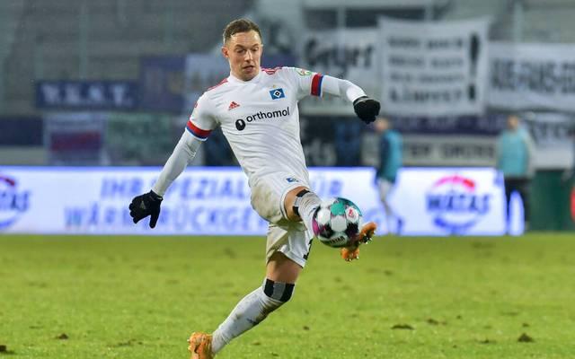 Sonny Kittel und der HSV empfangen Holstein Kiel