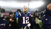 Tom Brady of the New England Patriots is seen after their 20-13 loss to the Tennessee Titans in the AFC Wild Card Playoff game at Gillette Stadium