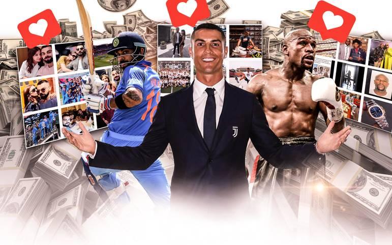 Nicht nur auf dem Spielfeld oder im Ring, sondern auch in den Sozialen Netzwerken wie Instagram verdienen die Sportstars eine Menge Geld.