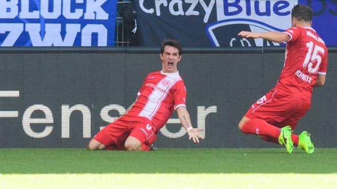 Fortuna Düsseldorf schlägt Arminia Bielefeld und baut die Tabellenführung aus