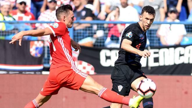 Ivan Perisic (r.) erzielte Kroatiens zweiten Treffer gegen Wales