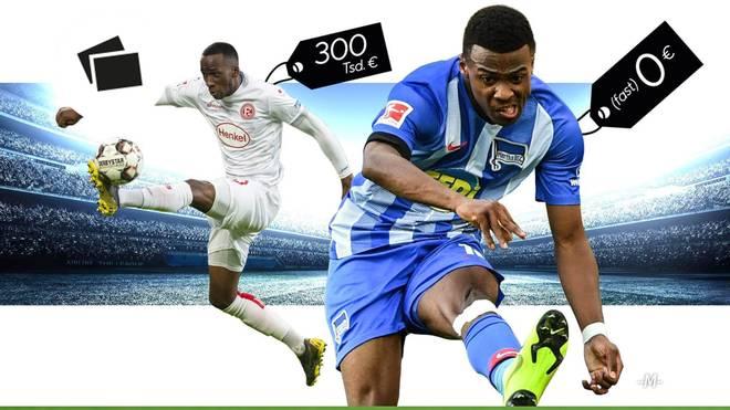 Javairo Dilrosun und Dodi Lukebakio überzeugten in ihrer Premierensaison in der Bundesliga