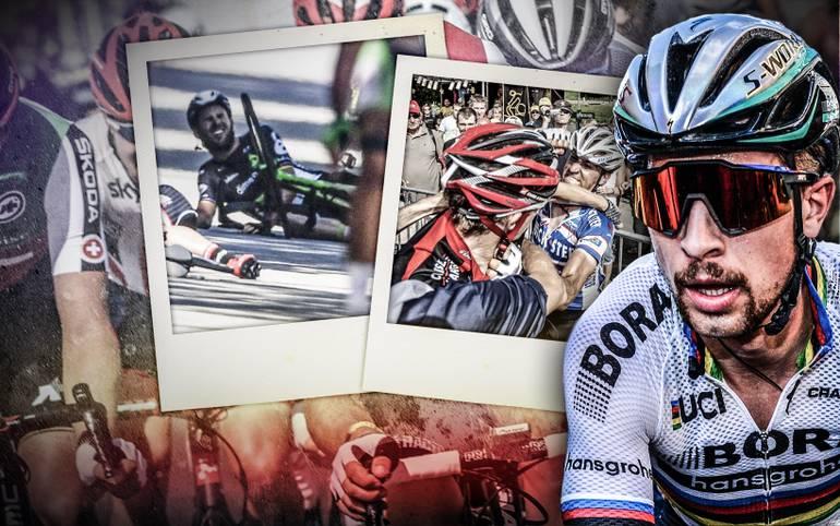 Peter Sagan sorgt mit seinem Ellbogen-Rempler gegen Mark Cavendish und folgender Disqualifikation für den ersten Skandal der Tour 2017. Im Vergleich zu anderen Radprofis - und Fans - ist das aber fast harmlos. SPORT1 zeigt eine Auswahl der größten Radsport-Eklats