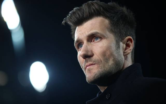 BASEL, SWITZERLAND - FEBRUARY 13: Raphael Wicky, manager of FC Basel looks on prior to the UEFA Champions League Round of 16 First Leg  match between FC Basel and Manchester City at St. Jakob-Park on February 13, 2018 in Basel, Switzerland.  (Photo by Alex Grimm/Bongarts/Getty Images )