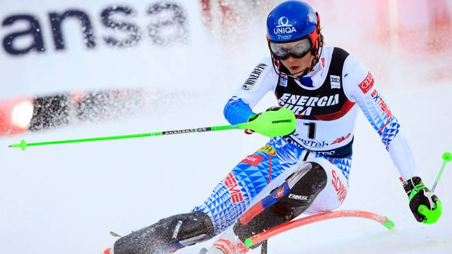 Petra Vlhova hat den Slalom in Zagreb gewonnen