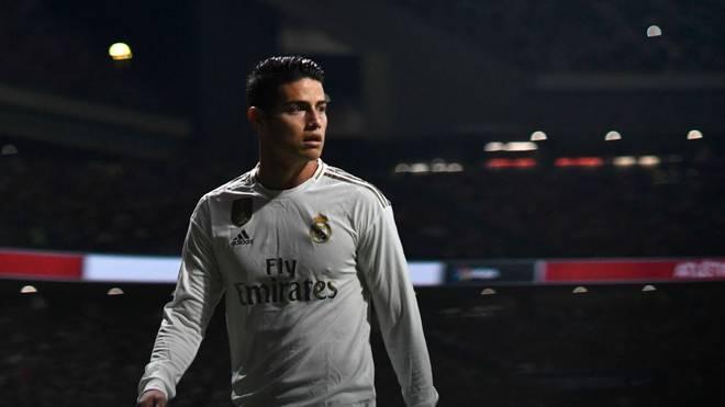 James Rodríguez spielt bei Real Madrid derzeit keine Rolle