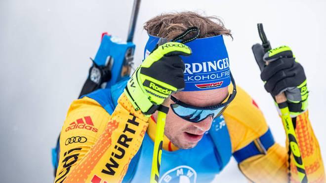 Simon Schempp quälte sich beim Weltcup in Oberhof vergeblich