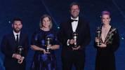 Lionel Messi (l.) und Jürgen Klopp (2.v.r.) sicherten sich die FIFA-Awards
