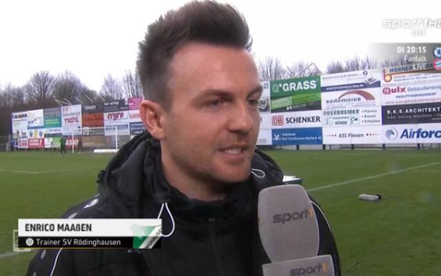 Enrcio Maaßen ist das zweite Jahr an der Seitenlinie des SV Rödinghausen verantwortlich