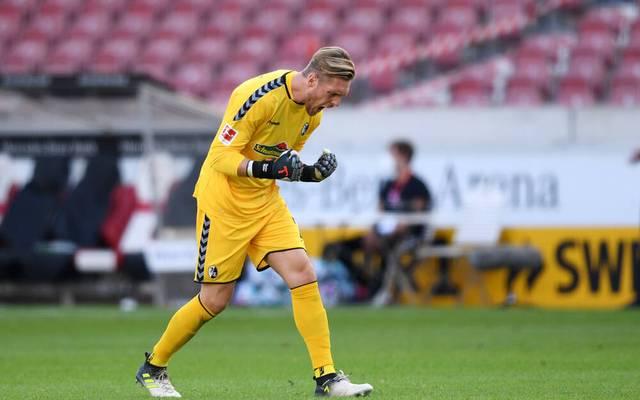 Florian Müller feierte ein überzeugendes Debüt für den SC Freiburg