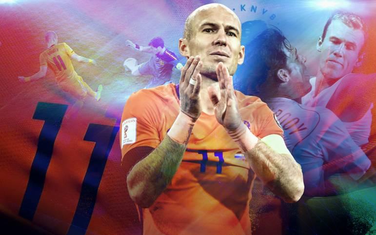 Bitterer Abschied von der Elftal für Arjen Robben: Nach dem WM-Aus für die Niederlande verkündet der Flügelstürmer seinen Rücktritt aus der Nationalelf. SPORT1 blickt zurück auf mehr als ein Jahrzehnt in Oranje - voller Highlights und Dramen