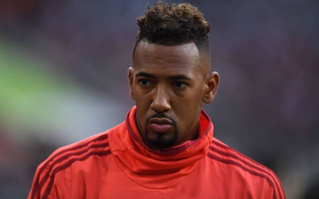 Bayern Munich's defender Jerome Boateng is pictured prior to the Audi Cup final football match between FC Bayern Munich and Tottenham Hotspur in Munich, southern Germany, on July 31, 2019. (Photo by Christof STACHE / AFP)        (Photo credit should read CHRISTOF STACHE/AFP/Getty Images)