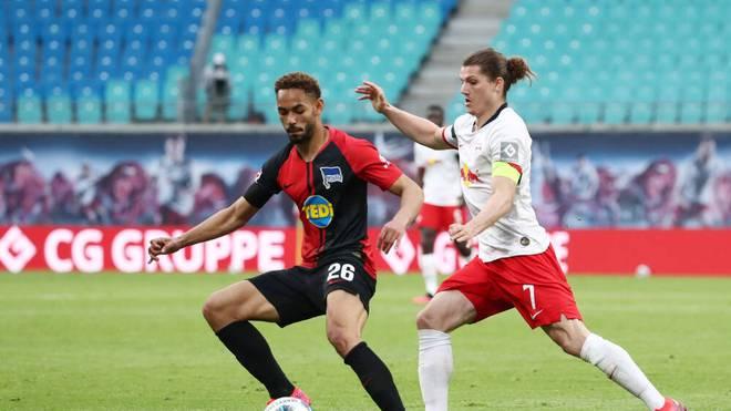 RB Leipzigs Marcel Sabitzer (re.) könnte am gegen die Hertha sein erstes Bundesligaspiel der Saison bestreiten