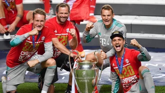 Sven Uleich (r.) nach dem Gewinn der Champions League