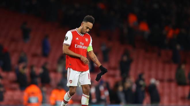 Pierre-Emerick Aubameyang scheiterte in der Europa League mit dem FC Arsenal an Olympiakos Piräus
