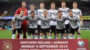 BELFAST, NORTHERN IRELAND - SEPTEMBER 09: Germany players pose for a team photo prior to the UEFA Euro 2020 qualifier match between Northern Ireland and Germany at Windsor Park on September 09, 2019 in Belfast, Northern Ireland. (Photo by Alex Grimm/Bongarts/Getty Images)