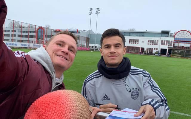 Philippe Coutinho nahm sich am Donnerstag im Training Zeit für die Fans