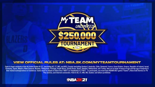 2K Games enthüllt das neue NBA 2K21 MyTEAM-Turnier