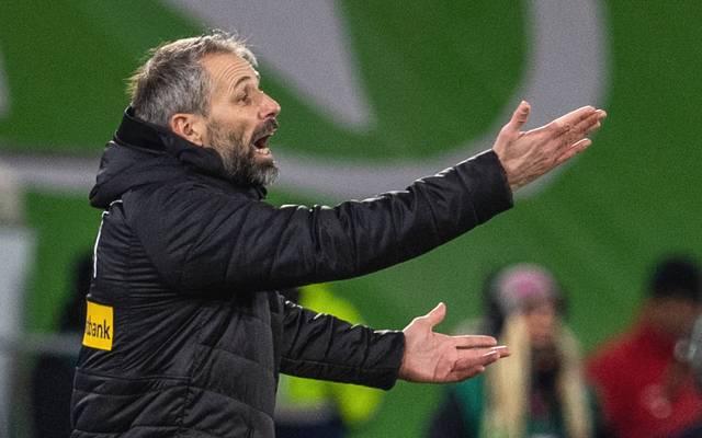 Marco Rose von Borussia Mönchengladbach gestikuliert