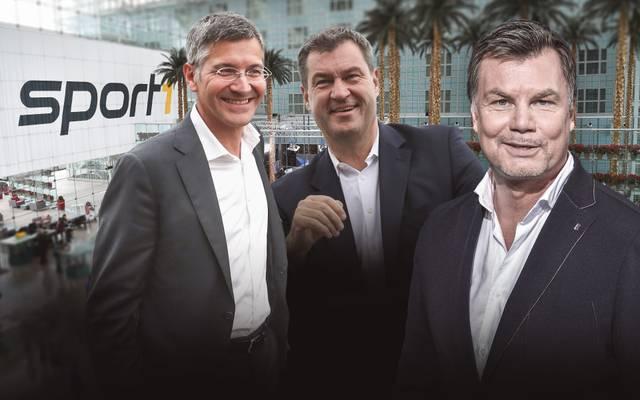 Herbert Hainer und Markus Söder sind im CHECK24 Doppelpass zu Gast