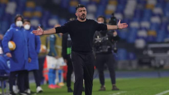 Gennaro Gattuso scheiterte mit der SSC Neapel in der Europa League am FC Granada