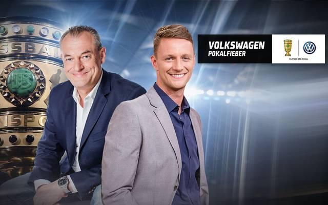 Mit Volkswagen Pokalfieber mit Markus Höhner (l.) und Jochen Stutzky startet SPORT1 in die DFB-Pokal-Woche