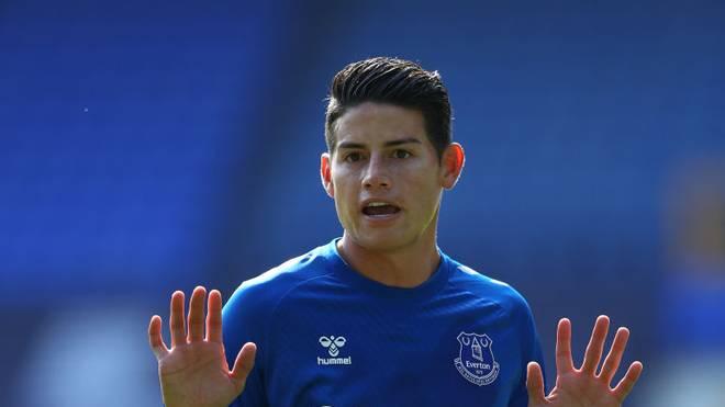 Beim FC Everton dreht James richtig auf.