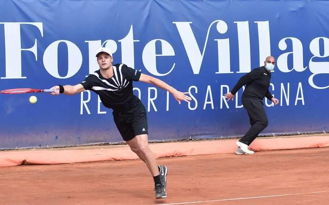 Yannick Hanfmann gewann in Cagliari sein Erstrundenmatch