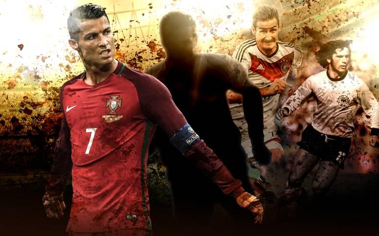 Cristiano Ronaldo rückt mit seinen Treffern 96 bis 98 in der ewigen Liste der besten Länderspiel-Torschützen näher an den ersten Platz - der von einem früheren Stürmer des FC Bayern belegt wird. SPORT1 zeigt die Top 20