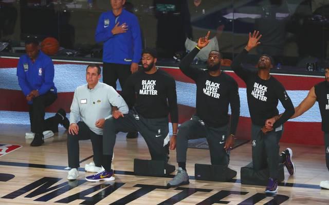 LeBron James von den Los Angeles Lakers ist entsetzt über den nächsten Fall von Polizeigewalt gegen Schwarze in den USA
