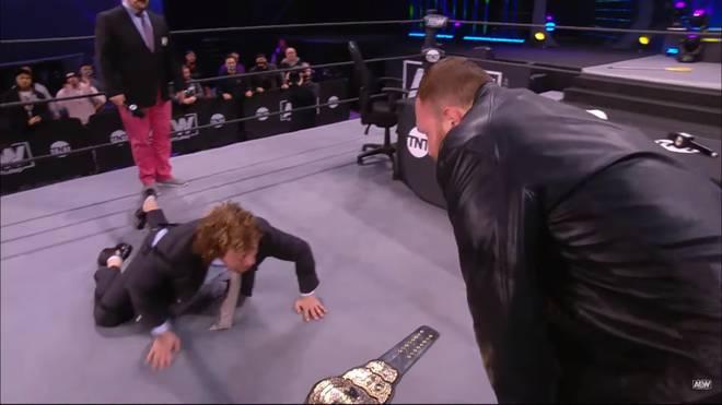 AEW-Champion Jon Moxley hat bei AEW Dynamite vor dem Titelkampf gegen Kenny Omega das letzte Wort