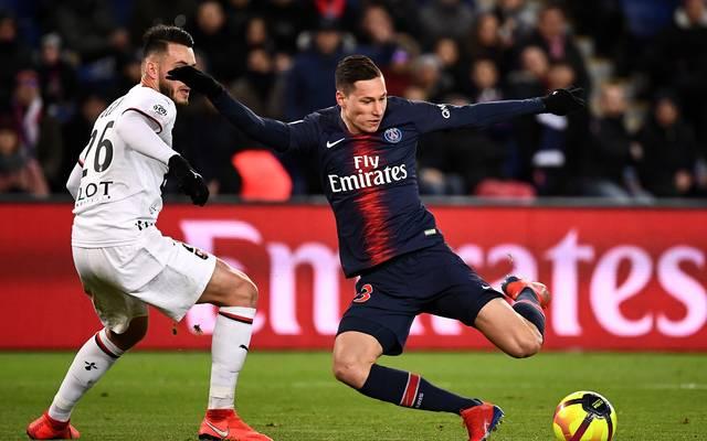 Julian Draxler (r.) erzielte das wichtige 1:0 für Paris Saint-Germain
