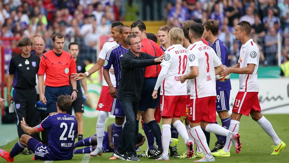 Tumulte beim Duell zwischen dem VfL Osnabrück und RB Leipzig