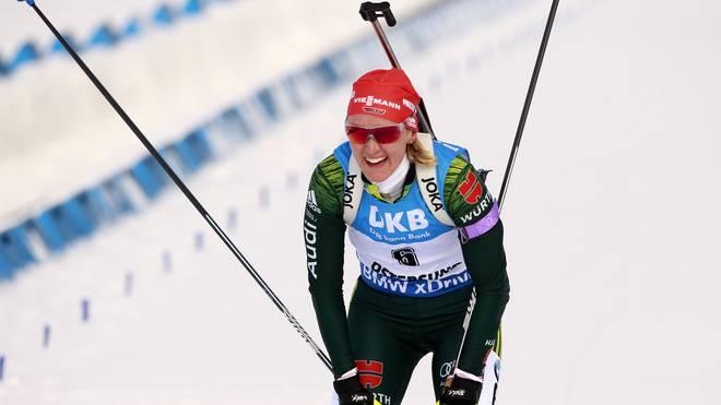 Biathlon-WM in Östersund: Einzelrennen ohne Herrmann, aber mit Dahlmeier,  Denise Herrmann gewann bei der WM das Verfolgungsrennen