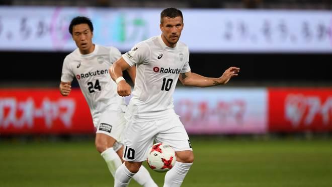 Lukas Podolski bereitete gegen Kawasaki Frontale zwei Tore für Vissel Kobe vor