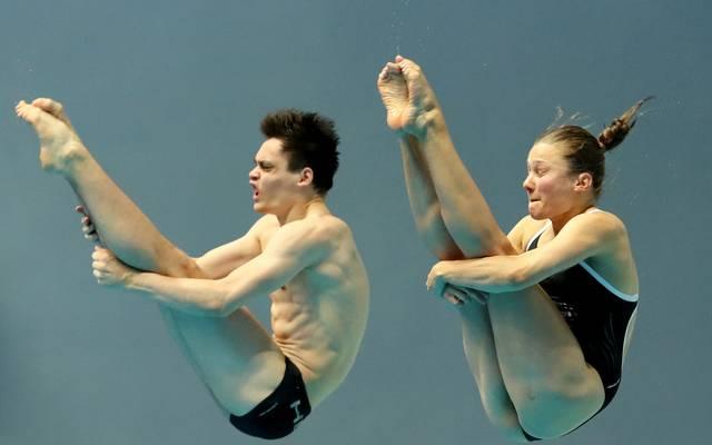 Tina Punzel und Lou Massenberg können sich über Bronze freuen