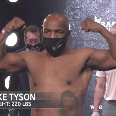 Mega-Comeback von Mike Tyson: das Wiegen im Video