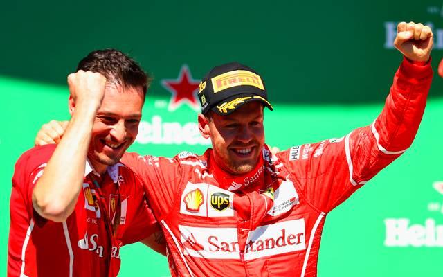 Sebastian Vettel bei einem Sieg in Brasilien