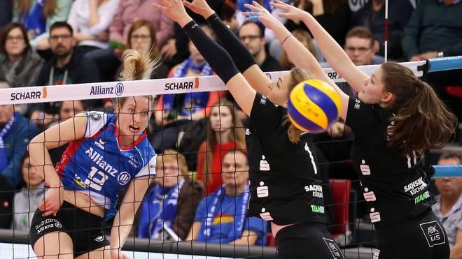 Stuttgart und Schwerin trafen Ende Februar bereits im DVV-Pokal aufeinander