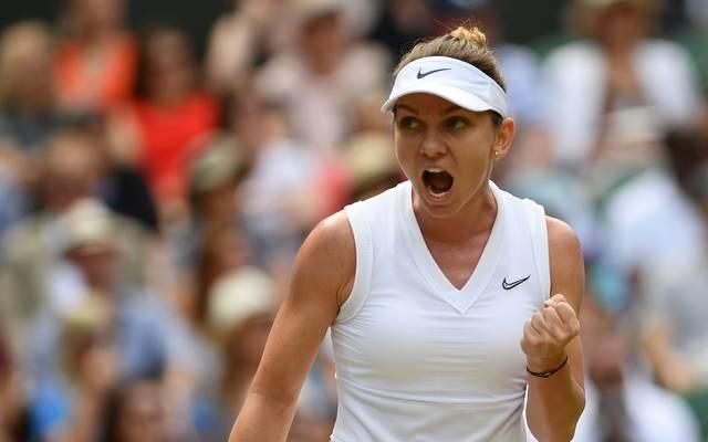 Wimbledon: Halbfinale mit Halep, Switolina, Williams und Strycova, Die Rumänin Simona Halep besiegte Jelena Switolina im Halbfinale