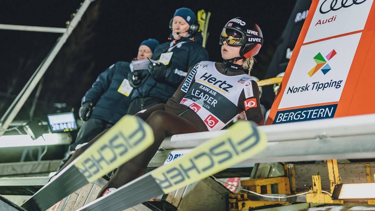 Maren Lundby aus Norwegen ist Olympiasiegerin - und darf dennoch nicht auf die ganz großen Chancen