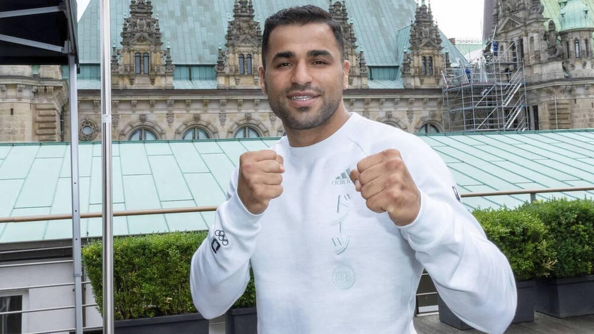Boxer Ammar Riad Abduljabbar kämpft für den SV Polizei Hamburg