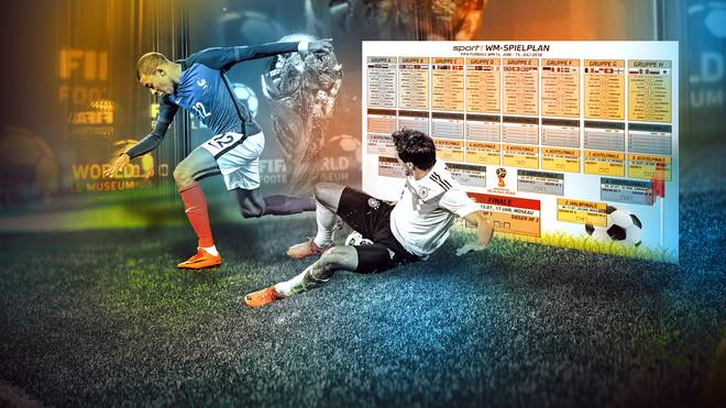Fußball WM 2018 Spielplan als PDF zum Ausdrucken