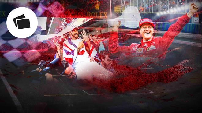 Lewis Hamilton und Michael Schumacher zählen zu den besten Formel-1-Fahrern aller Zeiten