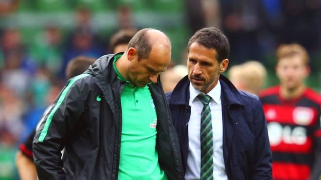 Sportgeschäftsführer Thomas Eichin nimmt sich Werders Coach Viktor Skripnik zur Brust