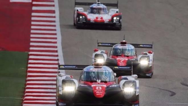 Momentaufnahme: Porsche fuhr nur kurz hinter dem Toyota-Duo