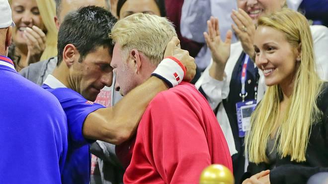 Umarmung zwischen Novak Djokovic und Boris Becker